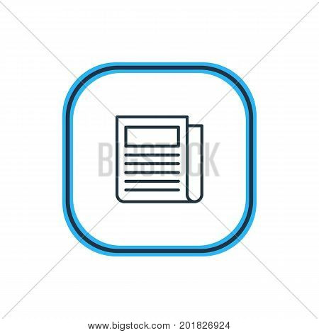 Beautiful Advertising Element Also Can Be Used As Daily Press Element.  Vector Illustration Of Newspaper Outline.