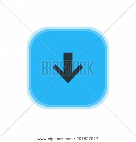 Beautiful Interface Element Also Can Be Used As Downward Element.  Vector Illustration Of Down Icon.