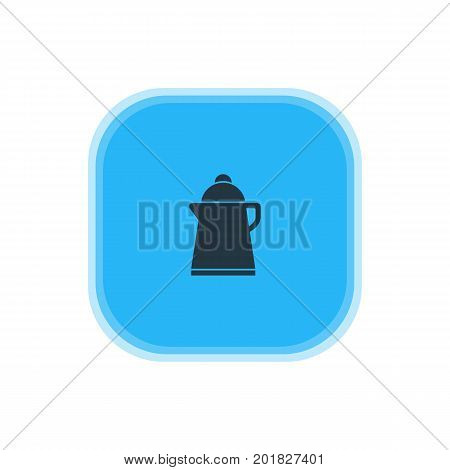 Beautiful Kitchenware Element Also Can Be Used As Tea Element.  Vector Illustration Of Kettle Icon.