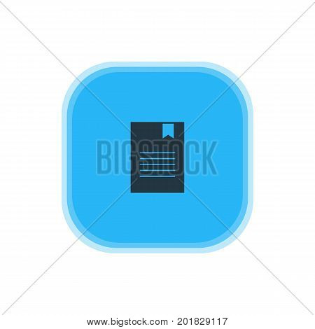 Beautiful Internet Element Also Can Be Used As Bookmark Element.  Vector Illustration Of Document Icon.