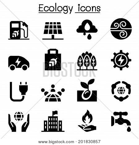Ecology Green Energy icon set vector illustration graphic design