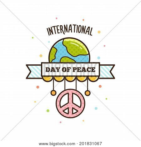 International Peace Day. Vector illustration. Peace symbol