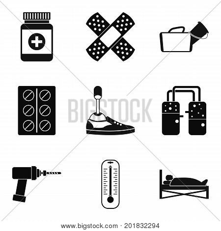 Medical man icons set. Simple set of 9 medical man vector icons for web isolated on white background