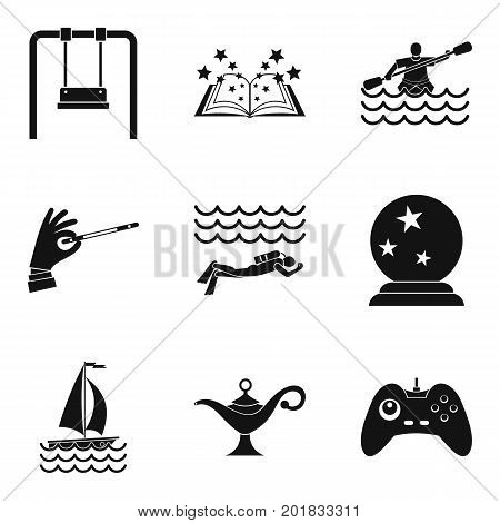 Swimming pool icons set. Simple set of 9 swimming pool vector icons for web isolated on white background