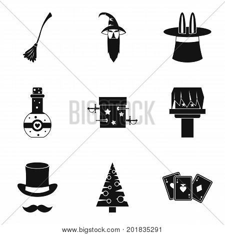Miracle icons set. Simple set of 9 miracle vector icons for web isolated on white background