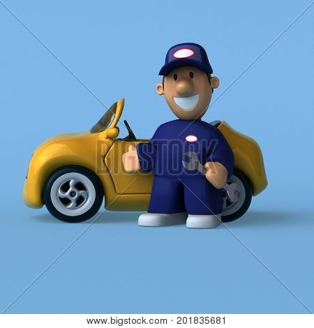 Mechanic - 3D Illustration