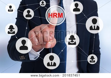 Manager Pointing On Hrm Sign On Virtual Screen