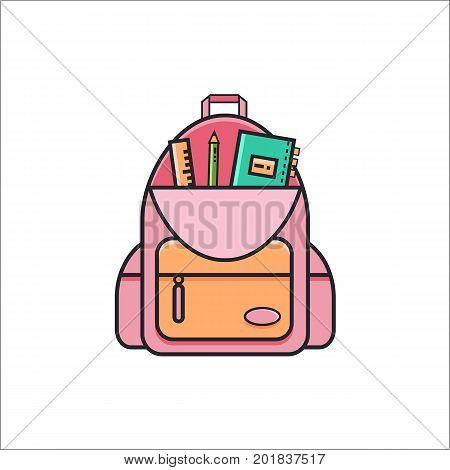 Open School Backpack Vector Photo Free Trial Bigstock
