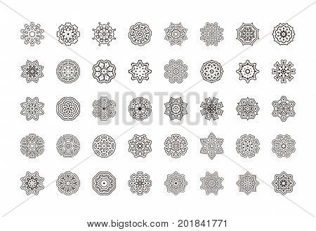 Floral Mandala Pattern. Unusual Flower Shape.