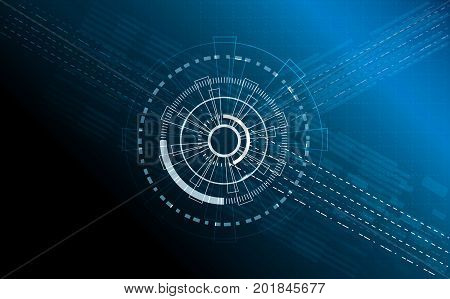 Circle Futuristuc  abstract digital technology background  vector illustration