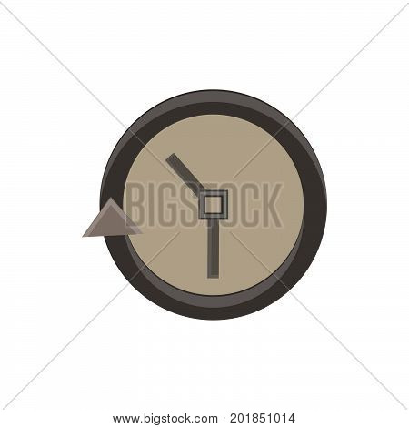 Clock icon vector time simple face illustration isolated watch symbol hour design sign timer dial