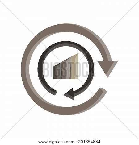 Recycle icon logo vector symbol sign eco isolated reuse ecology circle illustration