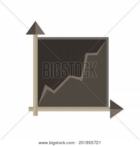 Graph chart vector data business illustration icon bar isolated
