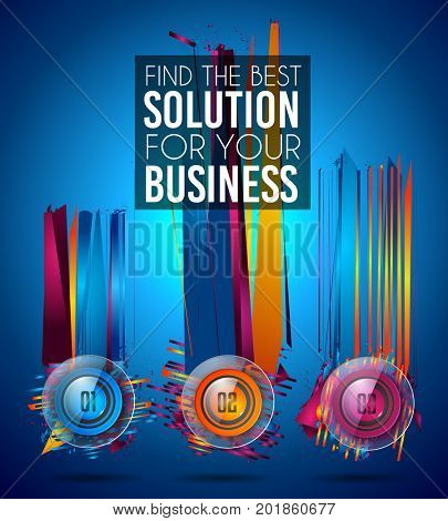 Modern Infographic Brochure template for product ranking, business presentation flyesr and solutions classification. With abstract background elements and glossy icon numbers.