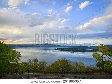 Lake Towada At Sunset In Aomori, Japan