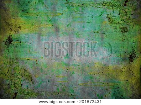 Dark and abstract textured grunge surface closeup