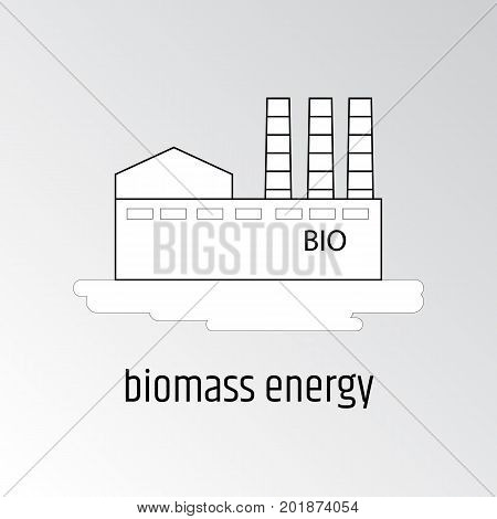 Vector illustration of biomass energy. Linear design