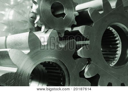 three gears connecting
