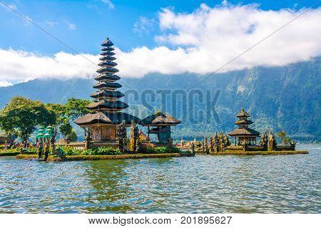 Pura Ulun Danu Bratan at Bali, Indonesia  Asia, Bali, Famous Place, Indonesia, Lake Bratan Area