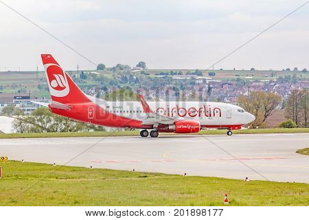 Air Berlin Boeing 737 At Runway Before Takeoff