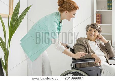 Nurse Visits Disabled Senior
