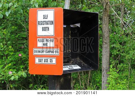 Camping And Day Use Self Registration Box