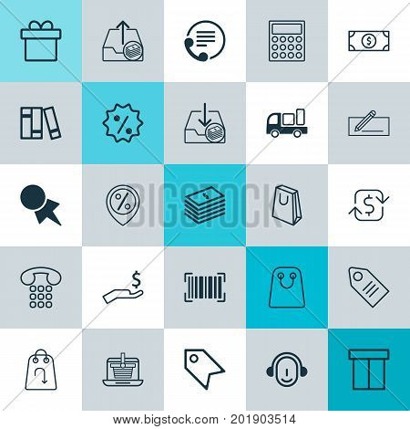 E-Commerce Icons Set. Collection Of Rich, Outgoing Earnings, Recurring Payements And Other Elements
