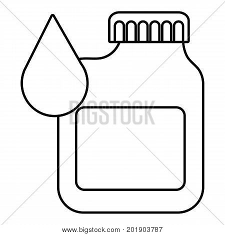 Canister engine oil icon. Outline illustration of canister engine oil vector icon for web