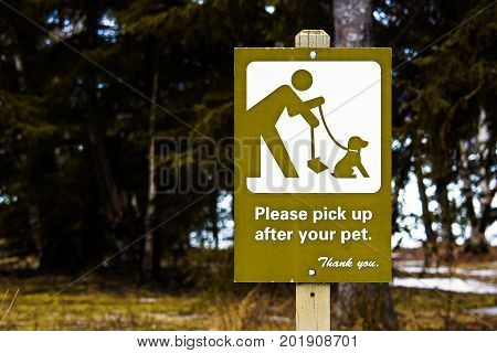Please Pick Up After Your Pet sign. poster
