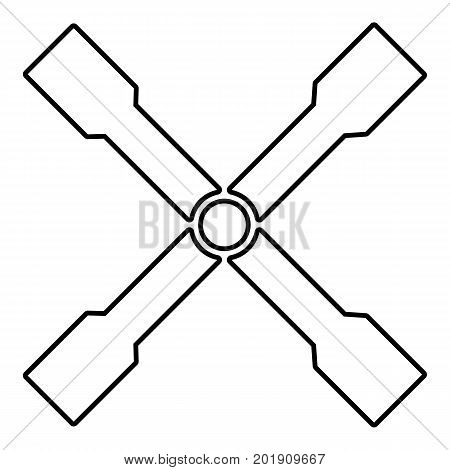 Spanner icon. Outline illustration of spanner vector icon for web