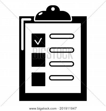 Checklist icon. Simple illustration of checklist vector icon for web