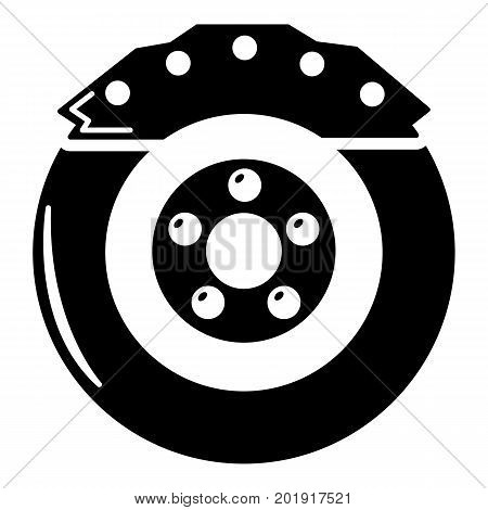 Brake shoe icon. Simple illustration of brake shoe vector icon for web