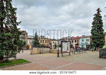 SKALA POLAND - AUGUST 13 2017: Nice little market in Skala City Poland.