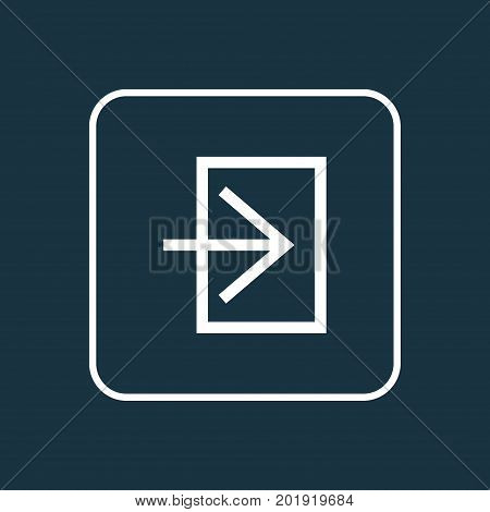 Premium Quality Isolated Log In Element In Trendy Style.  Entrance Outline Symbol.