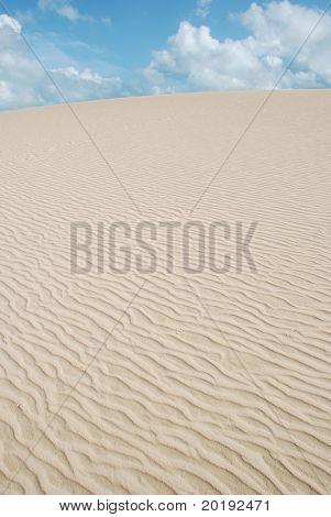 dunes in the beautiful fisherman village of Jericoacoara in ceara state brazil