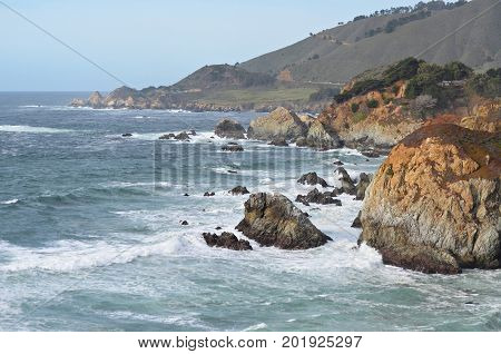 Spring view of the Northern California coast