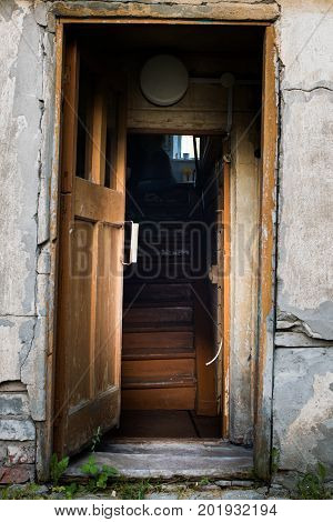 Entrance To The Old Abandoned House