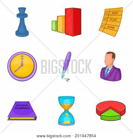 Reckoner icons set. Cartoon set of 9 reckoner vector icons for web isolated on white background