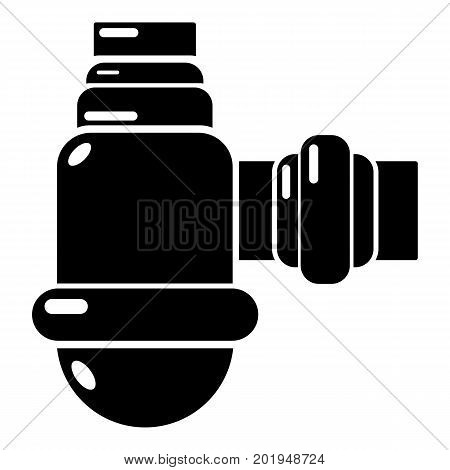 Sewage siphon icon. Simple illustration of sewage siphon vector icon for web