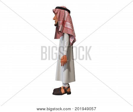 3d rendering of a stylized middle eastern man.