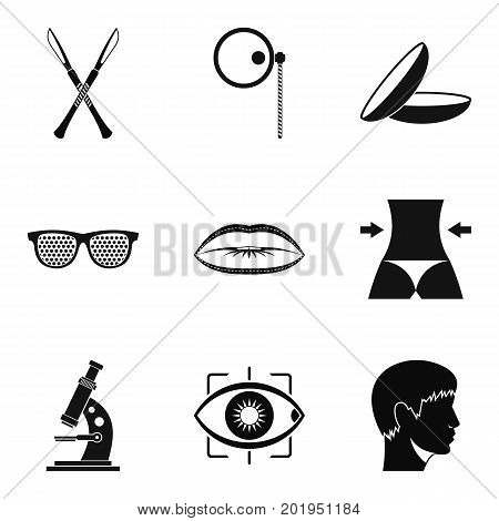 Corpus icons set. Simple set of 9 corpus vector icons for web isolated on white background
