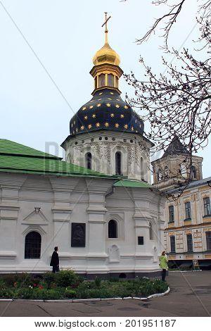 KIEV, UKRAINE - MAY 3, 2011: This is St. Nicholas Reception Church of the Kiev-Pechersk Lavra.
