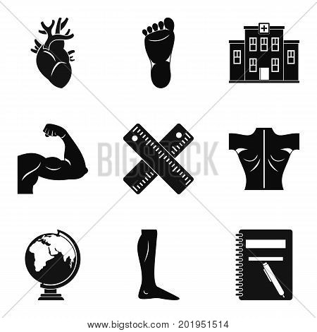 Graduate school icons set. Simple set of 9 graduate school vector icons for web isolated on white background