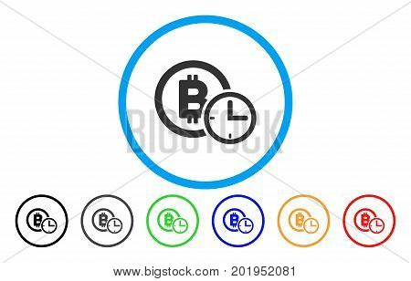 Bitcoin Credit Time flat vector pictograph for application and web design.