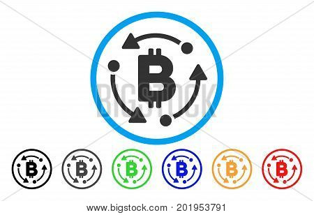 Bitcoin Rotation flat vector illustration for application and web design.