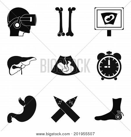 Scrag icons set. Simple set of 9 scrag vector icons for web isolated on white background