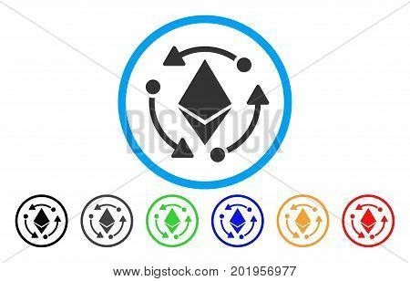 Ethereum Rotation flat vector illustration for application and web design.