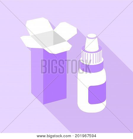 Nose spray icon. Flat illustration of nose spray vector icon for web