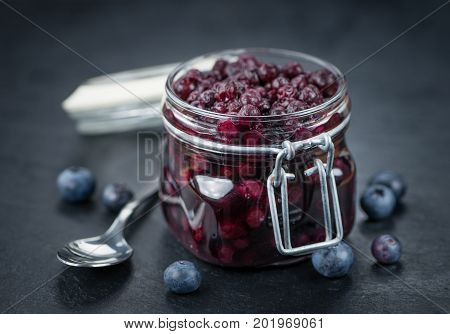 Portion Of Preserved Blueberries