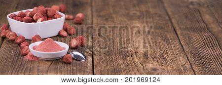 Instant Strawberries, Selective Focus
